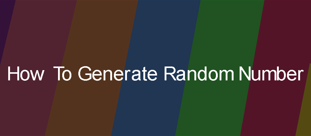 How-To-Random-Generate-Number