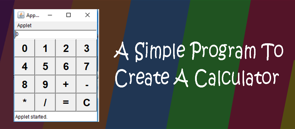 Java Example Programs – How to write a program for simple calculator program in java using awt