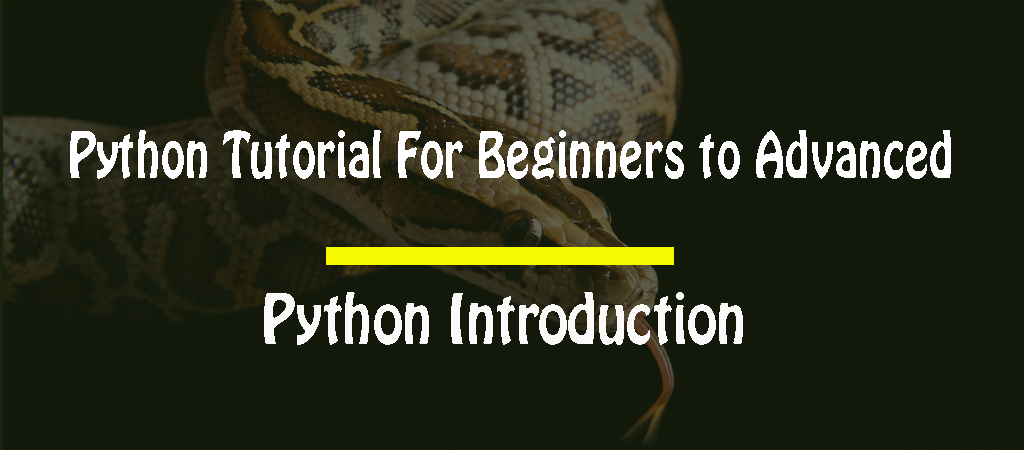 Python Tutorial For Beginners to Advanced – Introduction