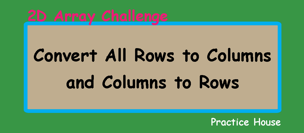 multi-dimensional array challenge – convert all rows to columns and columns to rows using Java