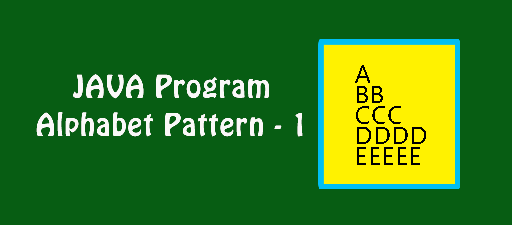 Java Example Programs – Alphabet Pattern 1