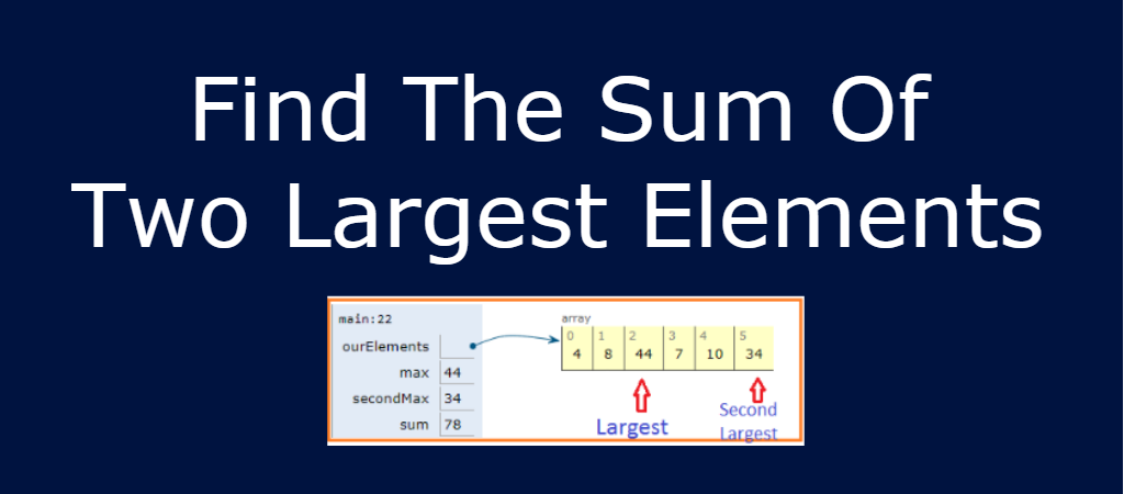 Write a Java Program to Find the Sum of Two Largest Elements