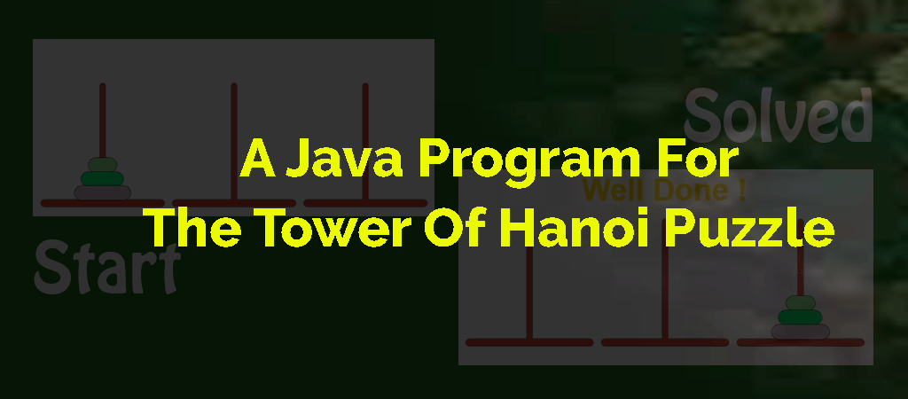 Java Recursive Program To Solve Tower Of Hanoi Puzzle